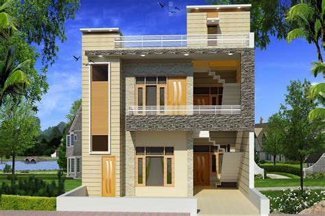 small townhouse exterior design write