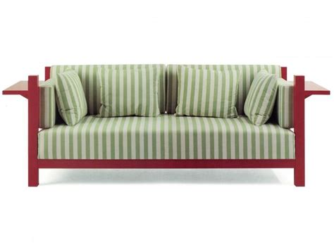 green striped sofa furniture green striped fabric sofa with red wooden arms