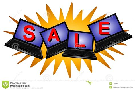 Desk Top Computers On Sale by Laptop Computer Sale Logo Royalty Free Stock Images
