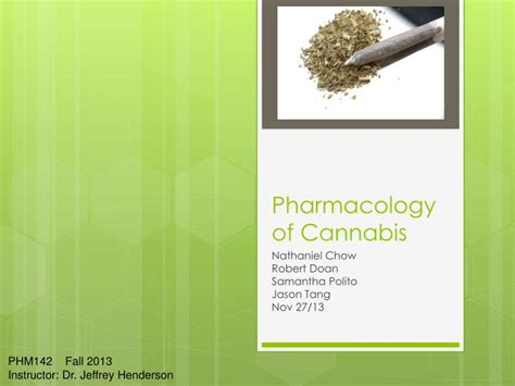 Ppt Pharmacology Of Cannabis Powerpoint Presentation Pharmacology Ppt Presentation