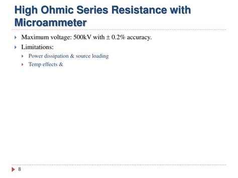 series resistance microammeter ppt mesurement of high voltages high currents powerpoint presentation id 784463