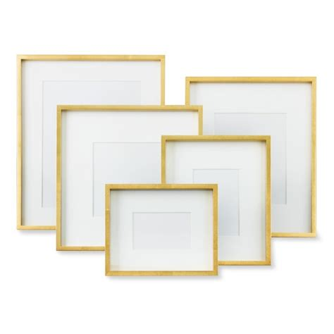 gallery frames gold metallic gallery frame williams sonoma