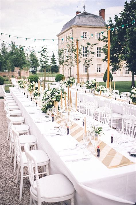 wedding outdoor reception destination wedding at chateau de varennes