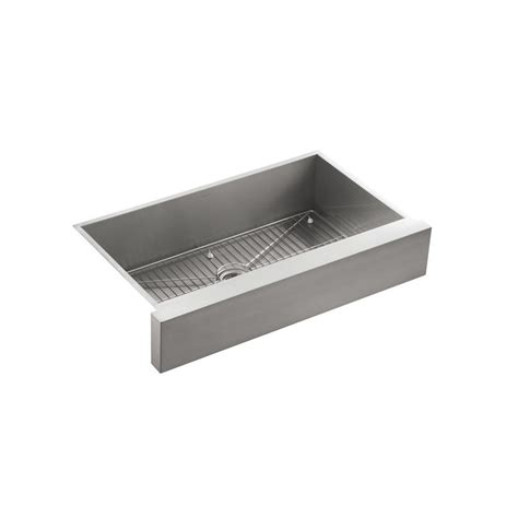 34 inch farmhouse sink kohler vault undermount stainless steel 36 in single bowl