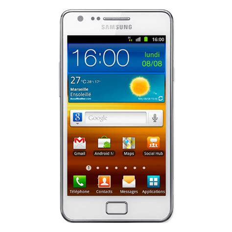 mobile galaxy s2 samsung galaxy s2 gt i9100 blanc mobile smartphone