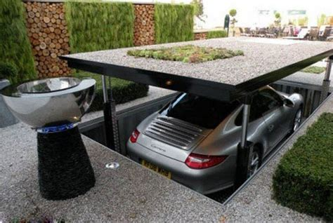 Technology Garage | japanese style garage for a car in the backyard new