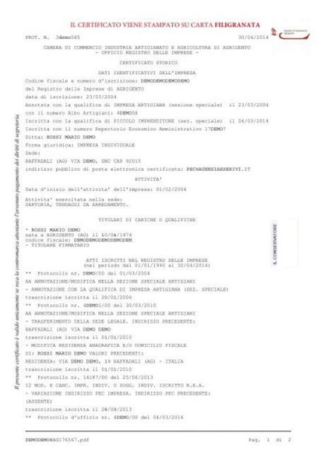 certificato di commercio on line certificato camerale di commercio zerocrazia