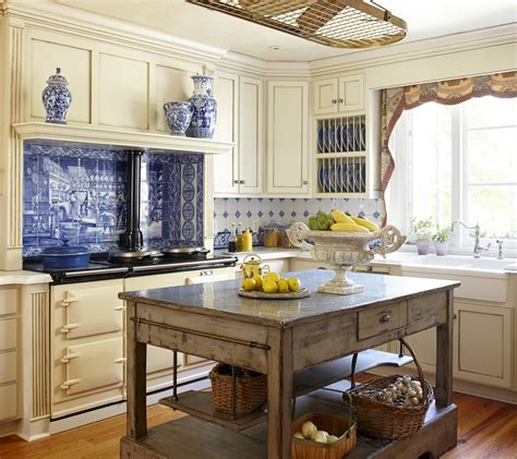 Blue Kitchen Ideas by Country French Kitchens Traditional Home