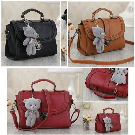 Tas Fashion Wanita Import Ransel Mxf7b Black Brown Grey Murah jual tas c95102 black brown ransel selempang import di
