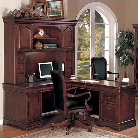 Traditional Home Office Furniture Rue De Lyon Traditional Home Office Desk Office Furniture