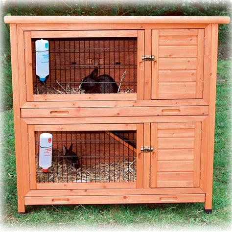Bunny Hutch Trixie Natura Two Story Rabbit Hutch My Pet Dreamboard