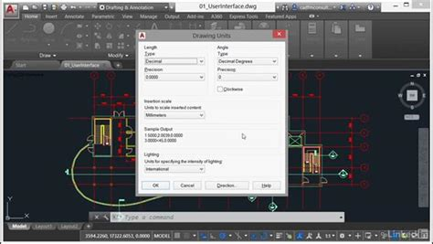 autocad tutorial units units settings
