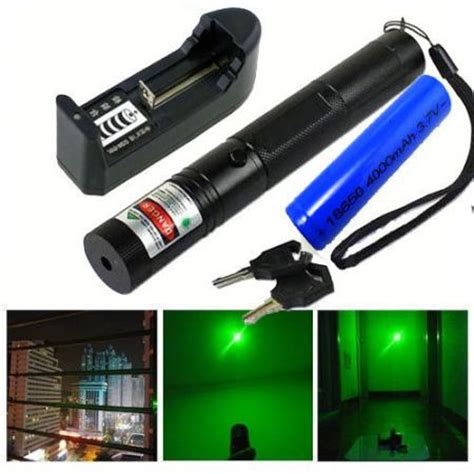 Green Laser Pointer Free Battery Rechargeable Charger 532nm g301 green laser pointer pen 18650 rechargeable battery charger usa ebay