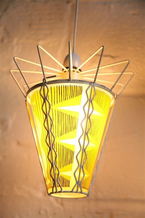 Yellow Glass Ceiling Light 1950s Glass Ceiling Light And Chrome