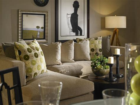 gray walls in neutral living room hgtv