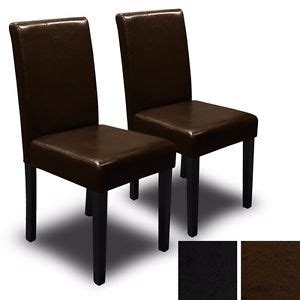set of 2 dining room furniture black leather dining chairs set of 2 black brown elegant design leather contemporary