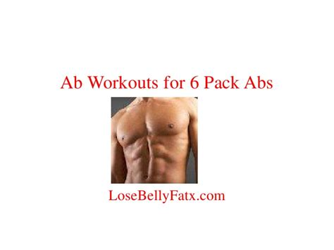 ab workouts for 6 pack abdominals