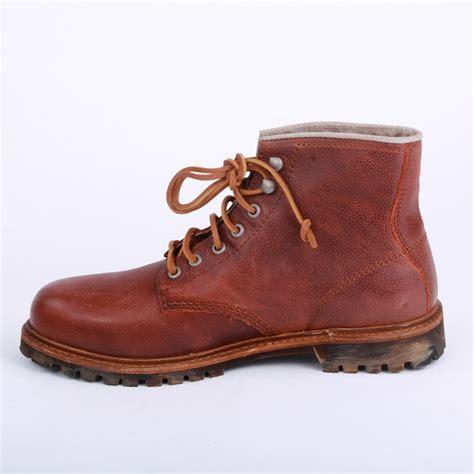 diesel heros mens ankle boots in burgundy