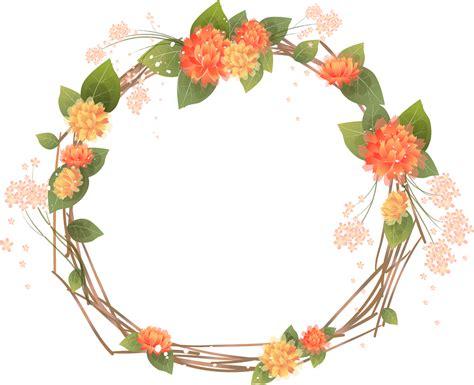 L 988 Transparent Tile Dress flower frame clipart circle banner clipart