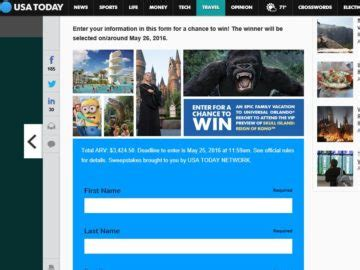 Resort Sweepstakes - the gannett universal orlando resort sweepstakes