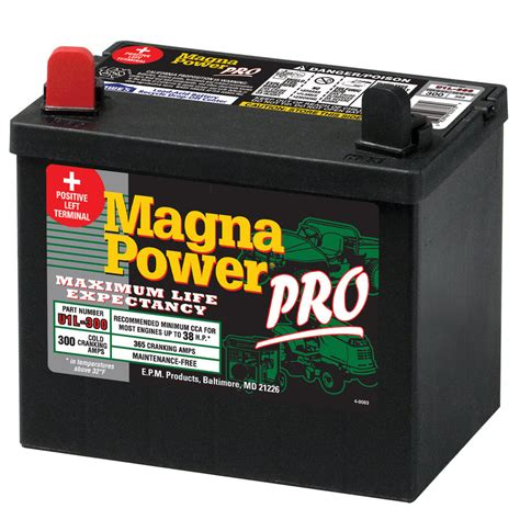 shop magna power 12 volt 365 lawn mower battery at