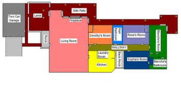 Golden Girls Floorplan Golden Girls House Floor Plan Girls Wallpaper