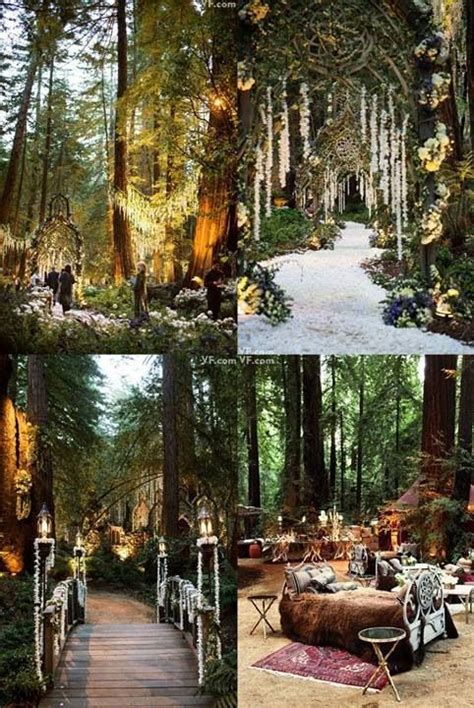teppiche wedding amazing forest wedding idk what the bed s doing there
