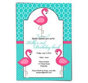flamingo birthday invite printable birthday by