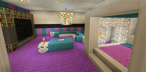 awesome minecraft bedrooms minecraft bedroom pink girl purple wallpaper wall design