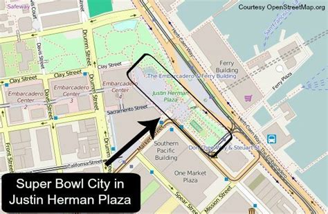justin herman plaza san francisco map sf bay area bowl 50 february 7 2016