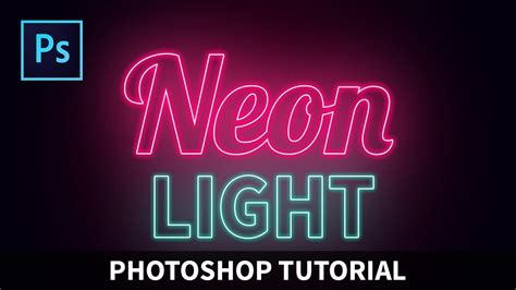 Neon Lights Font by Photoshop Tutorials Neon Light Text Effect Photoshop