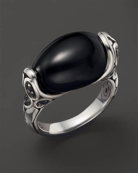 Batu Akik Lava hardy kali silver batu and lava small oval ring with