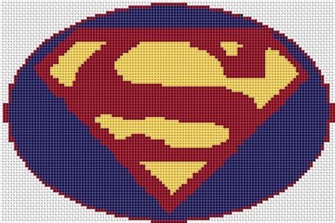 cross stitch pattern superman logo