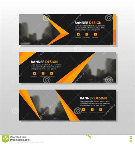 layout design for banner orange black triangle square abstract corporate business