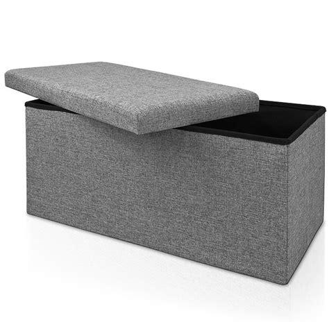 40 X 40 Storage Ottoman Stool Bench 80 X 38 X 40 Cm Ottoman Storage Box Bench Stool Cube Seat Grey Ebay