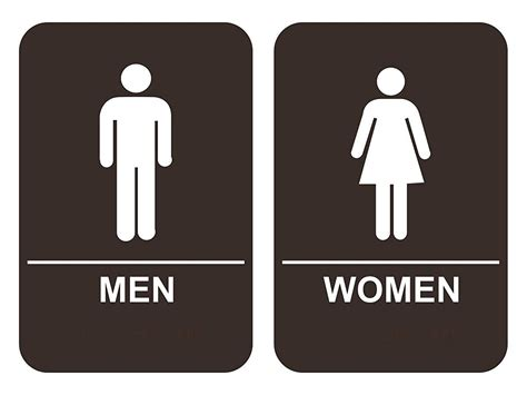 bathroom man and woman men women s bathroom sign set ada compliant tactile braille