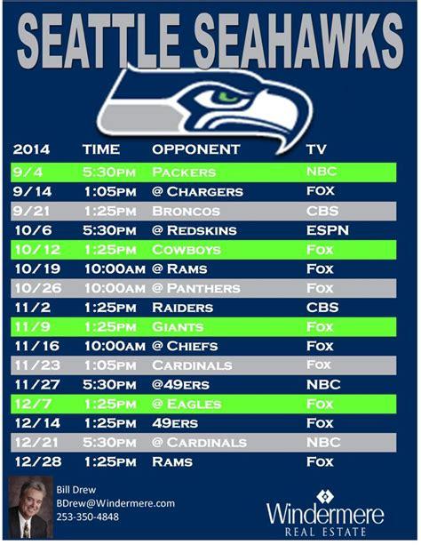 printable seahawks schedule 2015 2016 seahawks schedule 2015 2016 print friendly