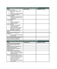 event planning agenda template 8 sle planning agenda free sle exle format