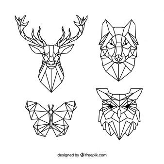 imagenes vectoriales animales gratis animales geometricos fotos y vectores gratis