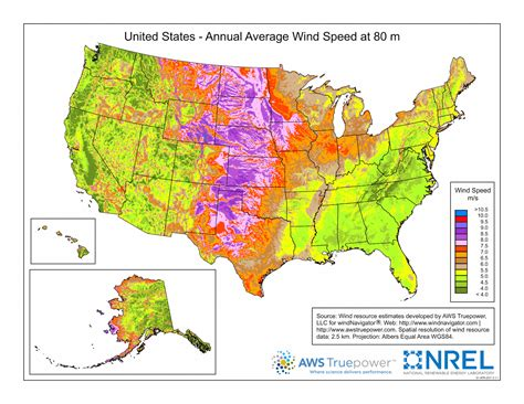 wind power map usa united states annual average wind speed ecoclimax