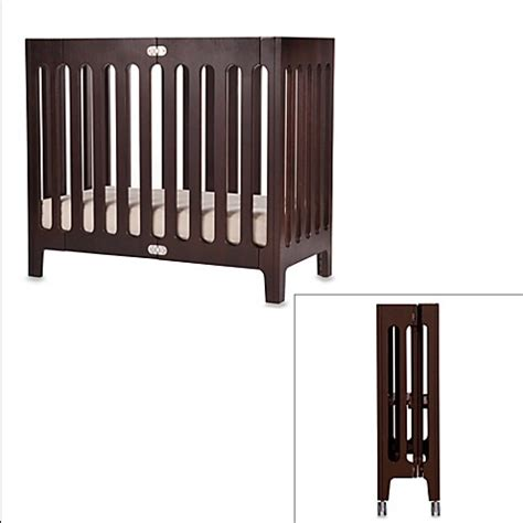 Mini Cribs For Sale Bloom 174 Baby Alma Folding Cot Mini Crib In Cappuccino Bed Bath Beyond