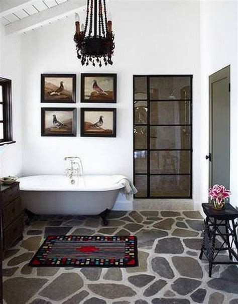 rock flooring bathroom 30 most creative bathrooms