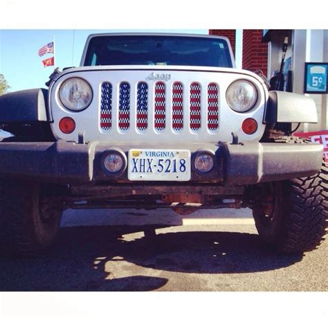 jeep flag flag grill insert jeepin flags
