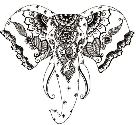 henna tattoo designs head henna style elephant design by teenu