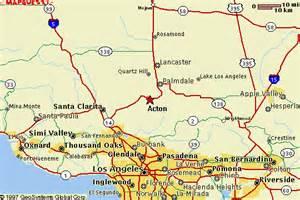 acton california map