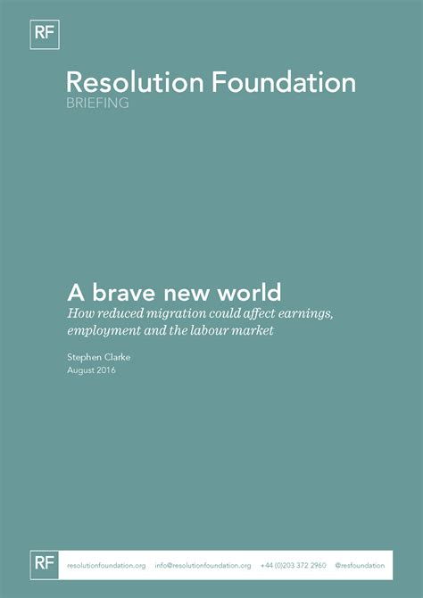 brave new world themes analysis a brave new world how reduced migration could affect