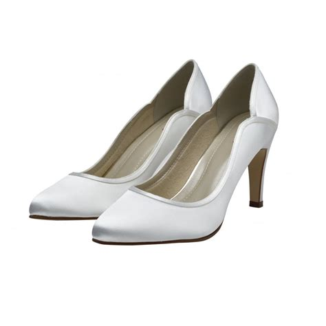 rainbow club white satin court shoes shoes co uk