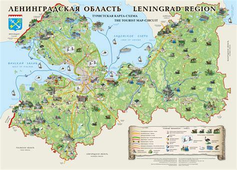 russia tourism map leningrad region tourist circuit map staraya derevnya