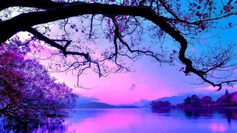 wallpaper blue landscape purplish blue landscape wallpaper wallpaper studio 10