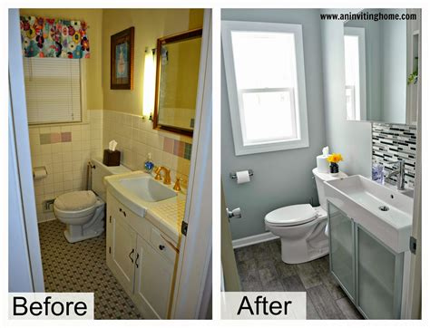before and after bathroom remodel remodelaholic modern bathroom update